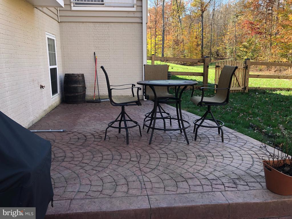 Rear Patio with dedicated gas line for grill. - 6 SCARLET FLAX CT, STAFFORD