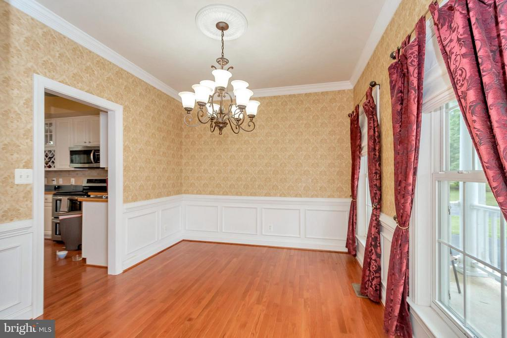 Dining Room with Wainscotting - 11904 BUTTERCUP LN, FREDERICKSBURG