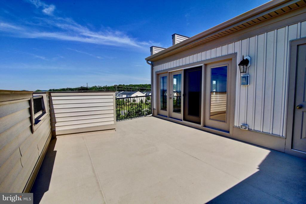 Rooftop Terrace with Stunning Views - 23386 EPPERSON SQ, ASHBURN