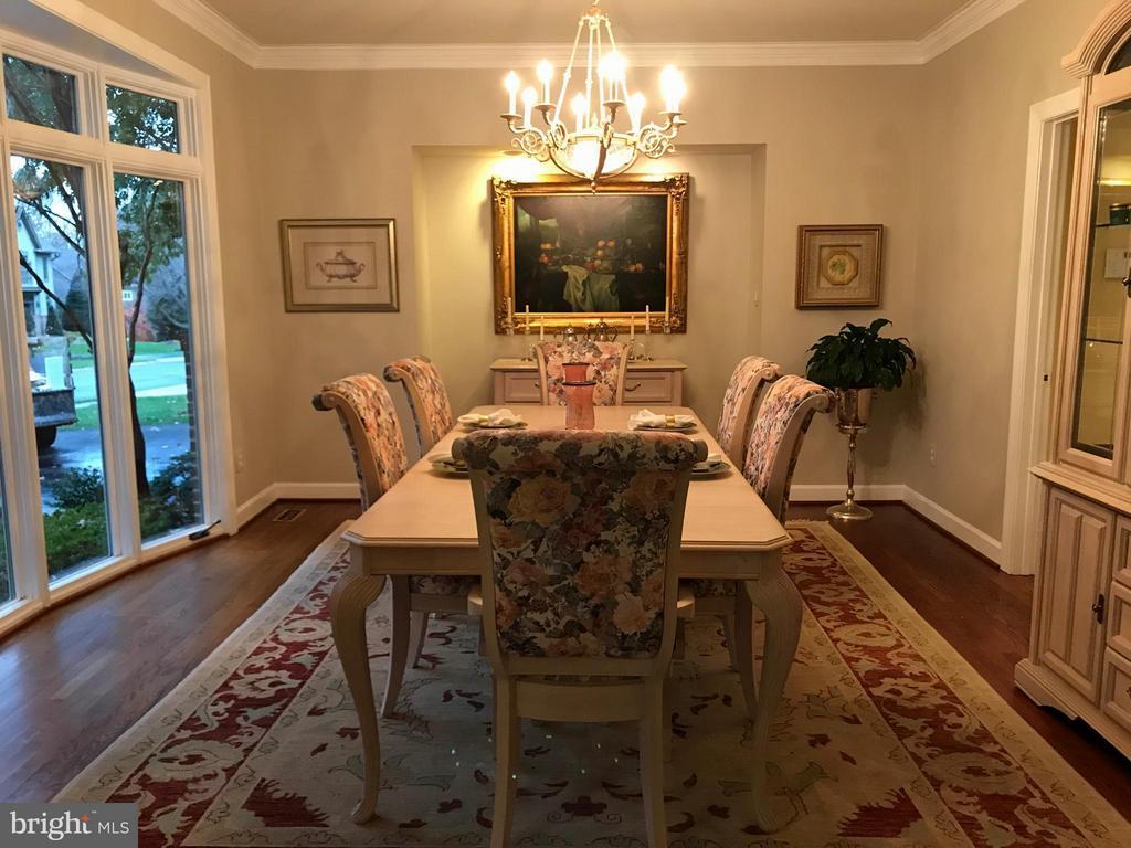Dining Room with Stunning Bowed Bay Window - 1309 STAMFORD WAY, RESTON