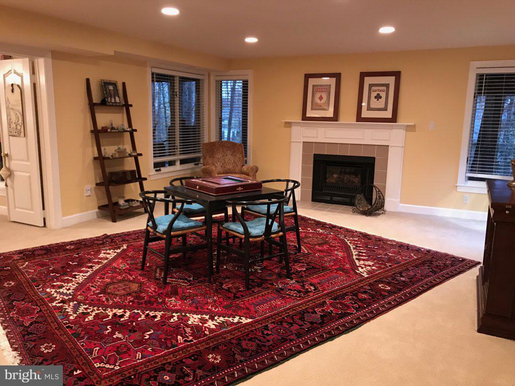 Lower Level Den with Fireplace & Walkout - 1309 STAMFORD WAY, RESTON