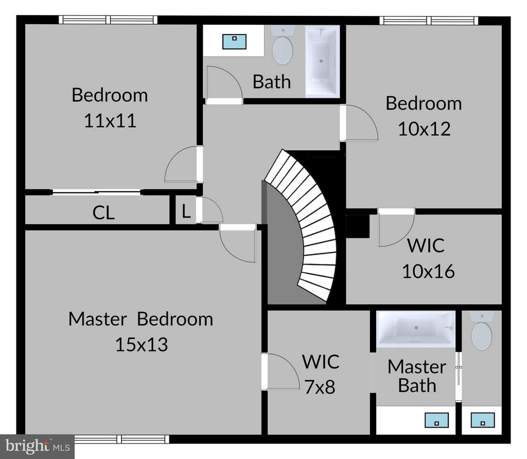 Upper Level Floorplan - 6018 WATERBURY CT, SPRINGFIELD