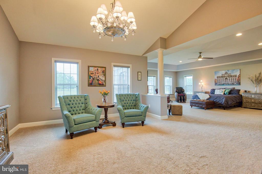 Master Bedroom with sitting area - 17331 WESTHAM ESTATES CT, HAMILTON