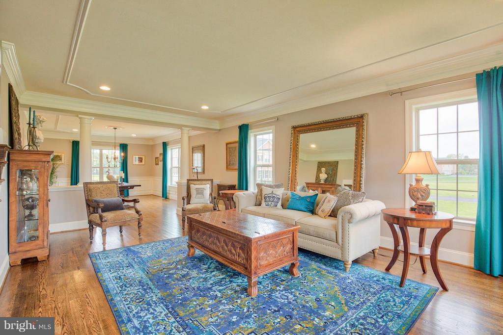 Living Room with hardwood flooring - 17331 WESTHAM ESTATES CT, HAMILTON