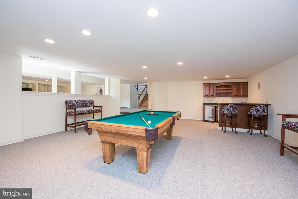 Party Room w/ Pool table and wet bar - 5900 SUNDOWN RD, GAITHERSBURG
