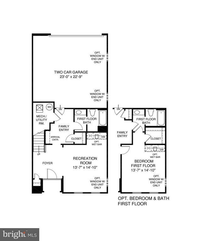 1st Level Floorplan - 5204 ROCK QUARRY AVE, GREENBELT