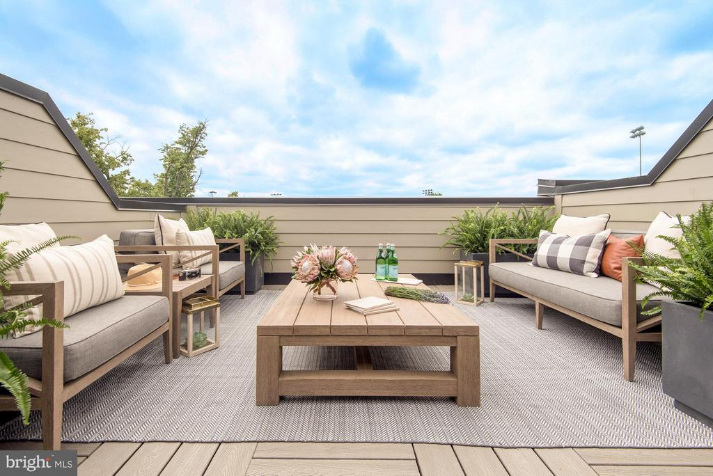 private roof deck with water bib and gas line - 1305 D ST SE, WASHINGTON