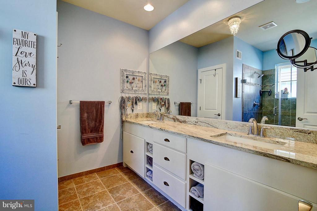 Double vanity in master bath - 20385 SAVIN HILL DR, ASHBURN