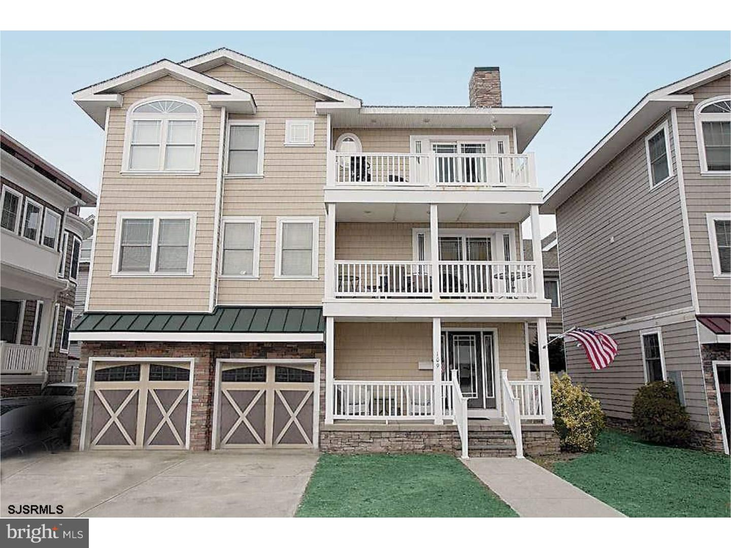 Single Family Home for Sale at 109 S FRANKFORT Avenue Ventnor City, New Jersey 08406 United States