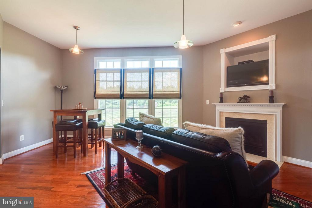 Family Room with Floor to Ceiling Windows - 40728 CHEVINGTON LN, LEESBURG