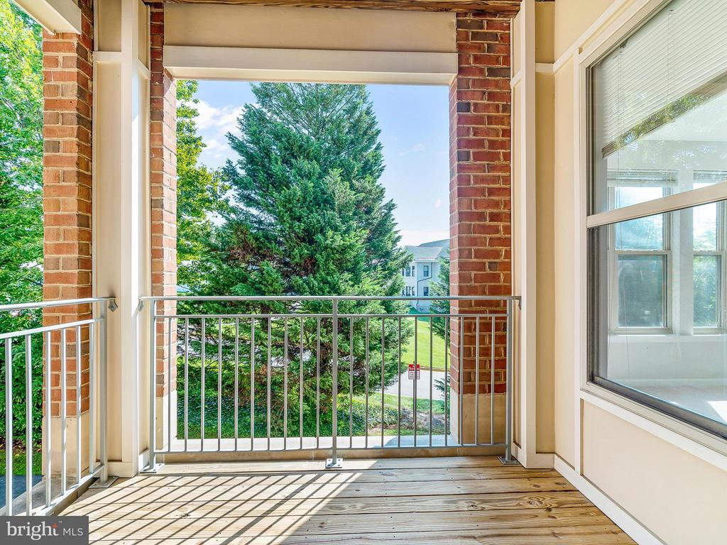Balcony with Sunny East Exposure - 1855 STRATFORD PARK PL #201, RESTON