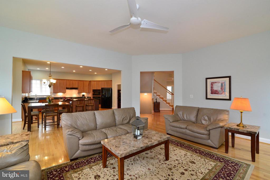 Family Room opens to kitchen - 13534 VILLAGE GREEN DR, LEESBURG