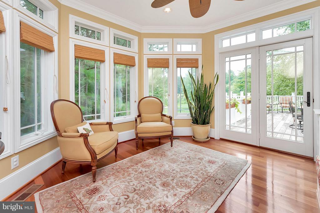 Sitting Room with View of Golf Course - 11403 LITTLE BAY HARBOR WAY, SPOTSYLVANIA