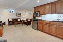 Fully Finished Lower Level Rec Room with  Kitchen - 4515 39TH ST N, ARLINGTON