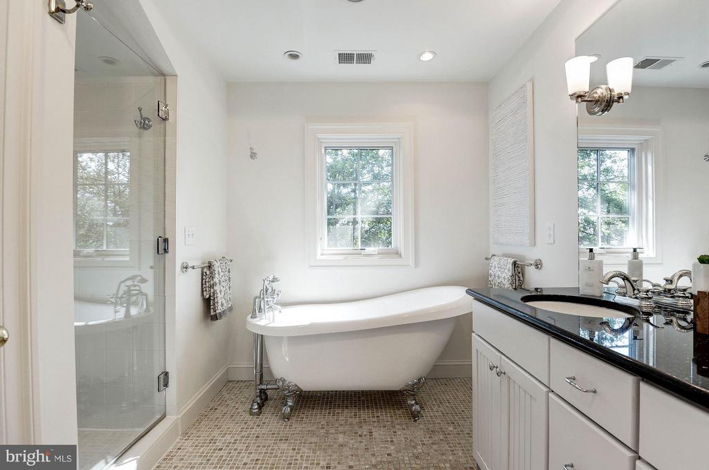 Sumptuous Master Bathroom with Separate claw tub - 219 MASON AVE, ALEXANDRIA