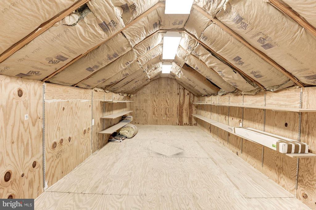 Attic Storage/Potential Finished area above Garage - 219 MASON AVE, ALEXANDRIA