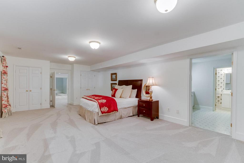 Spacious bedroom - attached kitchenette and bath. - 11102 DEVEREUX STATION LN, FAIRFAX STATION