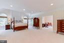 Huge master bedroom suite. - 11102 DEVEREUX STATION LN, FAIRFAX STATION