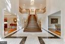 Dramatic entrance foyer. Marble floors. - 11102 DEVEREUX STATION LN, FAIRFAX STATION
