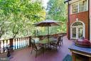 Deck overlooking heated pool - 11102 DEVEREUX STATION LN, FAIRFAX STATION