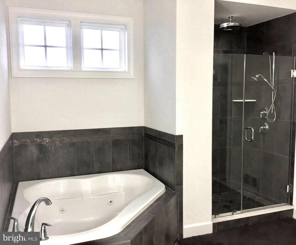 Rich Tile Surrounds the Oversized Shower and Tub - 15652 BERKHAMSTEAD PL, LEESBURG