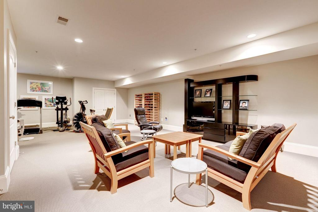 Recreation/Media/Exercise Room - 5005 CEDAR CROFT DR, BETHESDA