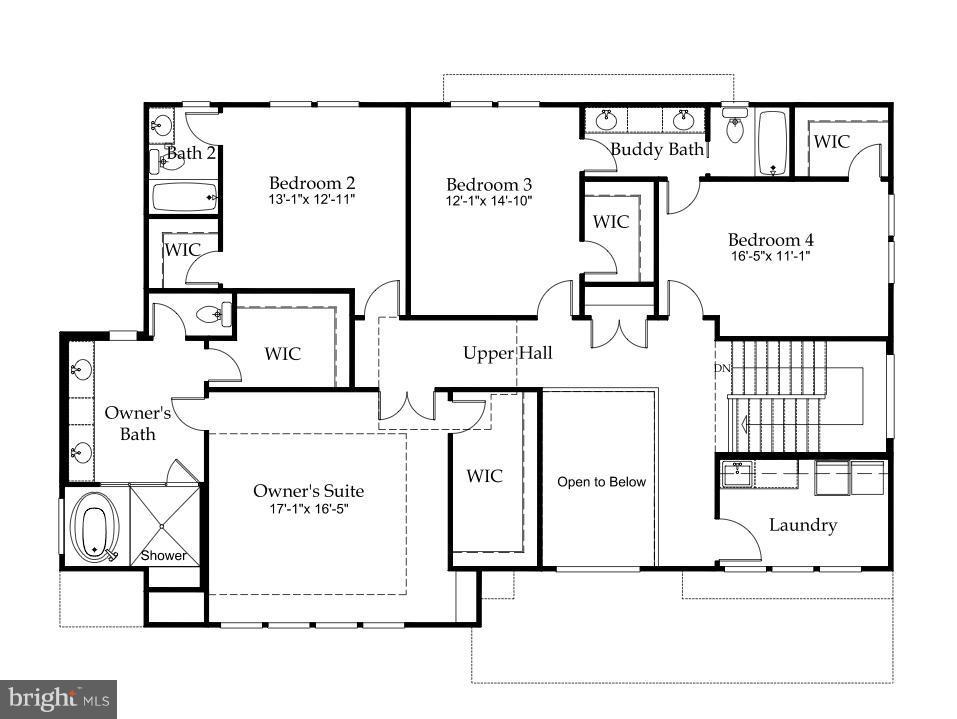 Upper Level Floor Plan - 3546 UTAH ST N, ARLINGTON