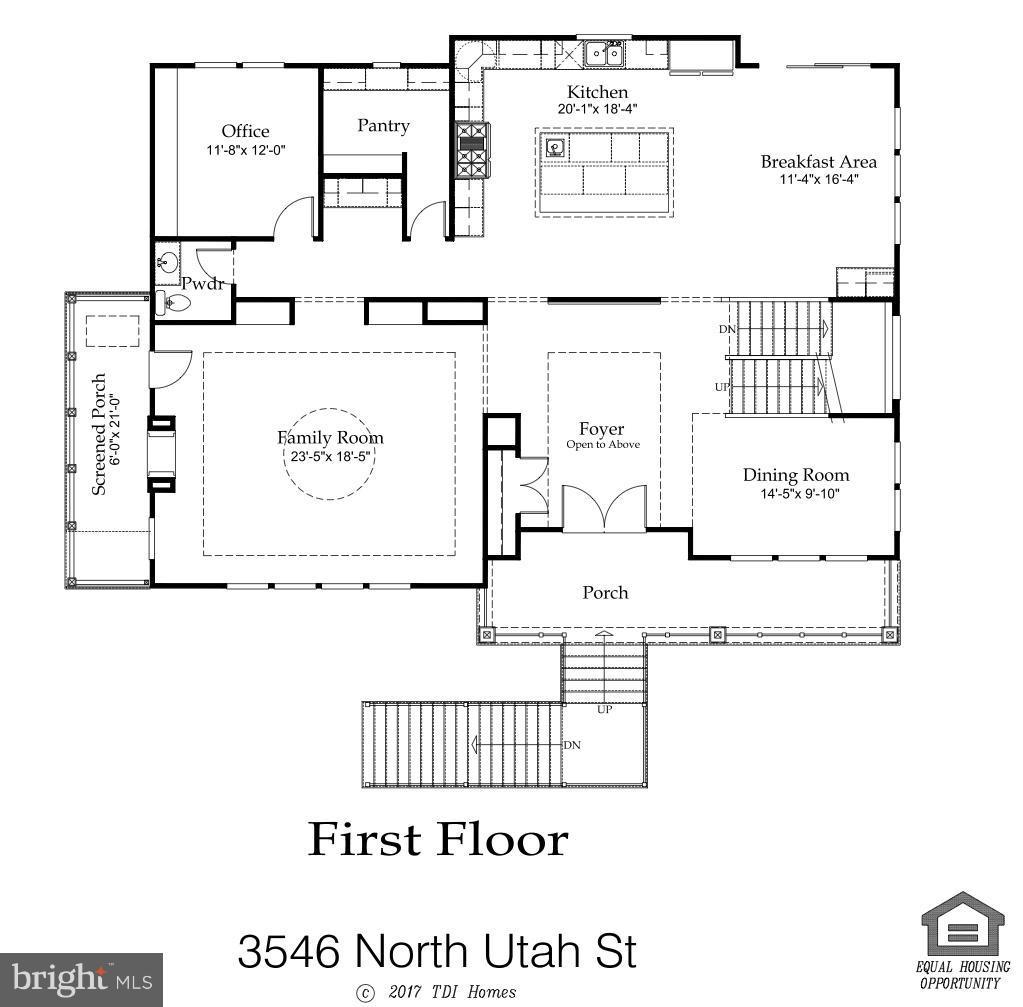 Main level floor plan - 3546 UTAH ST N, ARLINGTON