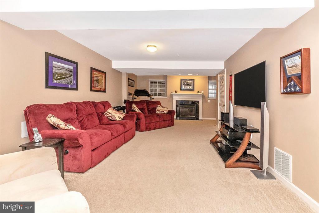 Basement Rec Room-Gas Fireplace - 5777 MUSSETTER CT, NEW MARKET
