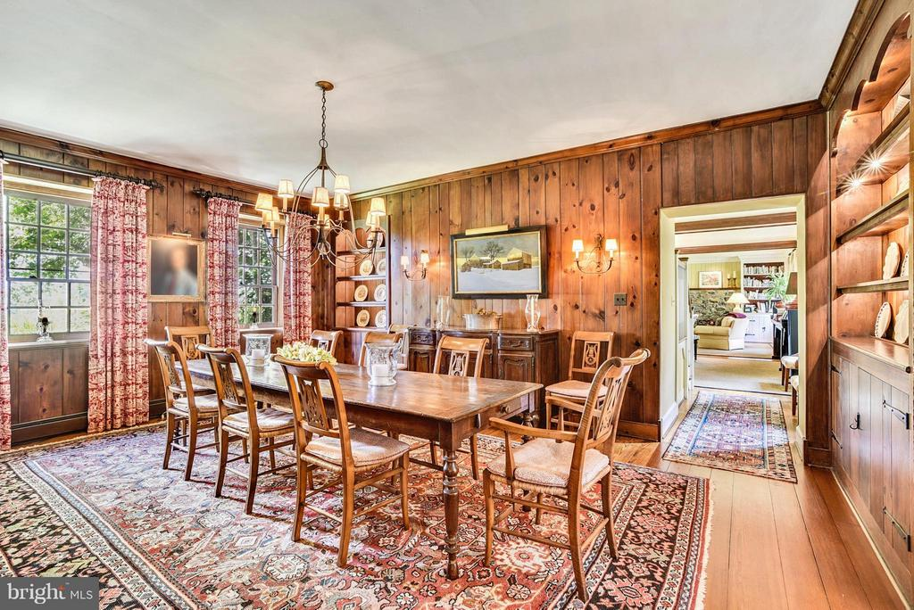 Dining Room with Wood Paneling - 12198 CREST HILL RD, HUME
