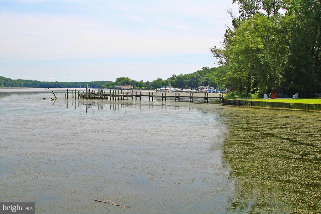 You can see Willow Landing Marina from the dock - 54 SHADY LN, STAFFORD