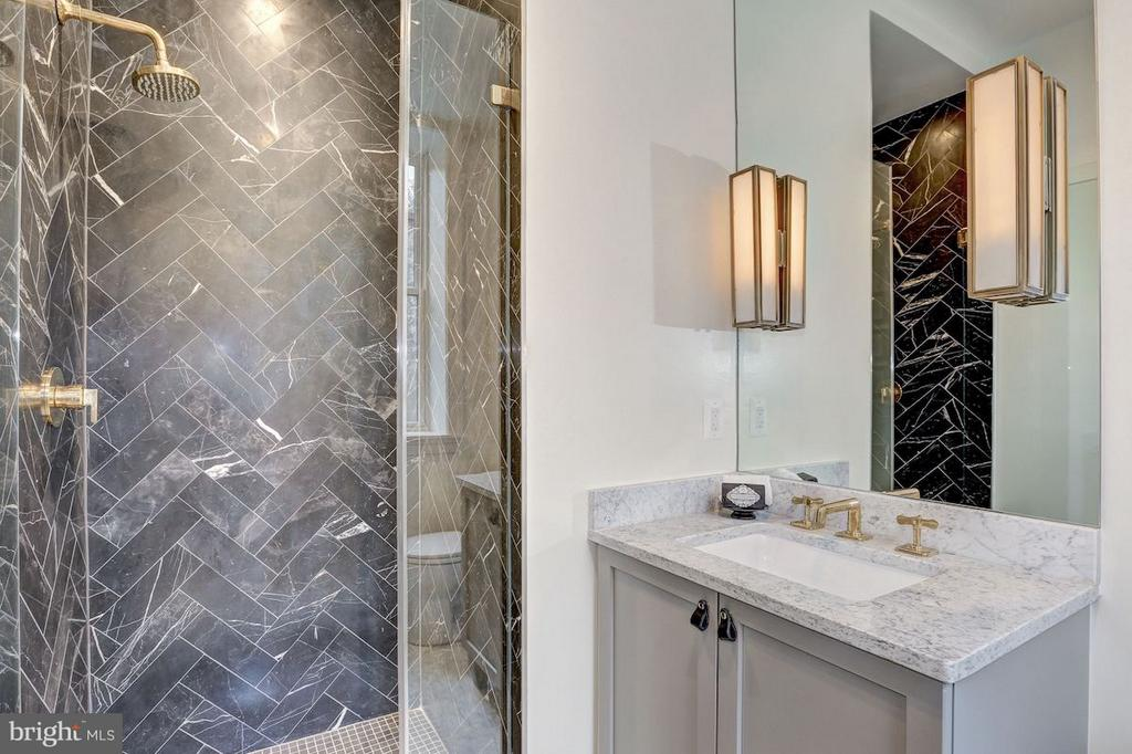 Guest Bathroom with Italian Black Marble Shower - 1810 15TH ST NW #NORTH, WASHINGTON