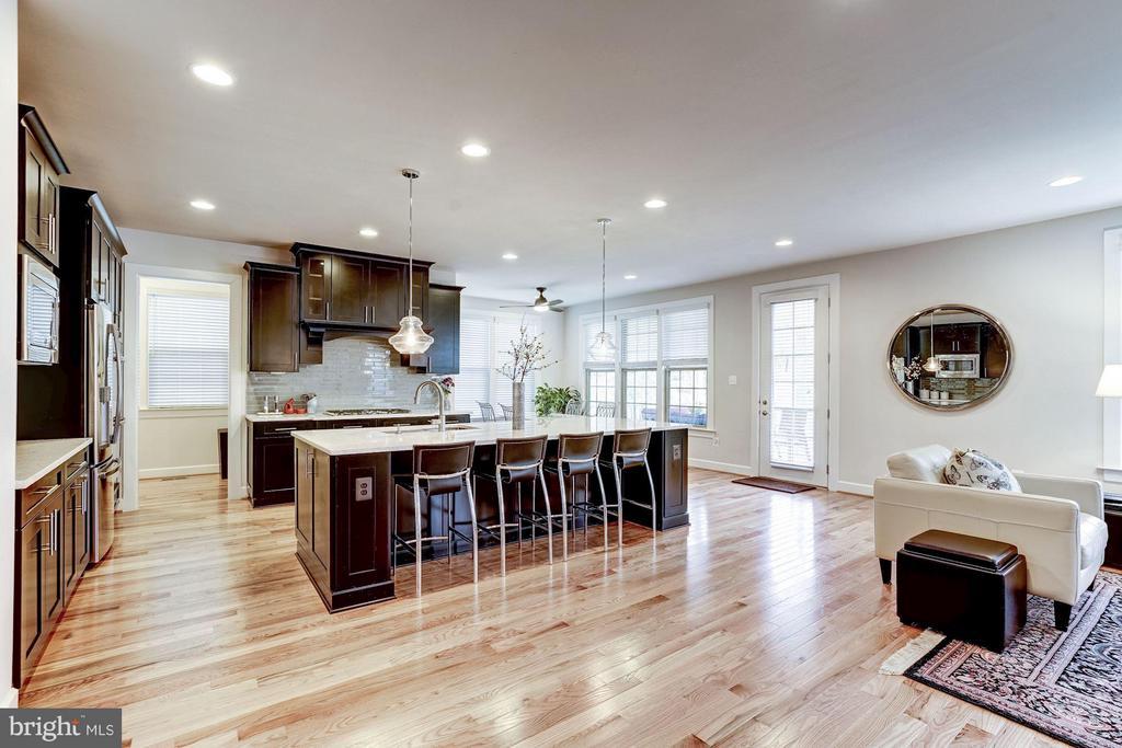 Gourmet Kitchen with Huge Island & SS Appliances - 11463 CRANEBILL ST, FAIRFAX