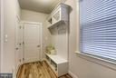 Mud room Entry with Cubbies & Closet - 11463 CRANEBILL ST, FAIRFAX