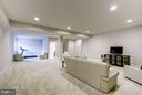 Lower Level Rec Room/Media Room - 11463 CRANEBILL ST, FAIRFAX