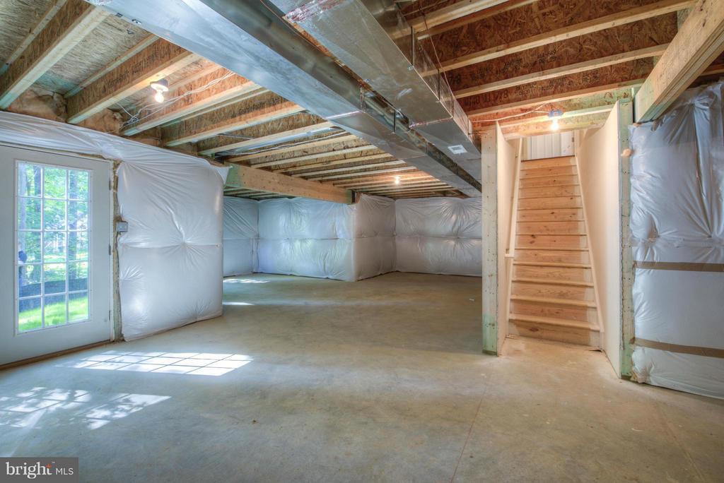 Basement - unfinished - 276 ANDERSON DR, FREDERICKSBURG