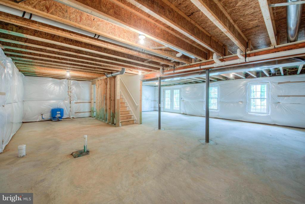 Unfinished Basement - elevation may vary - 280 ANDERSON RD, FREDERICKSBURG