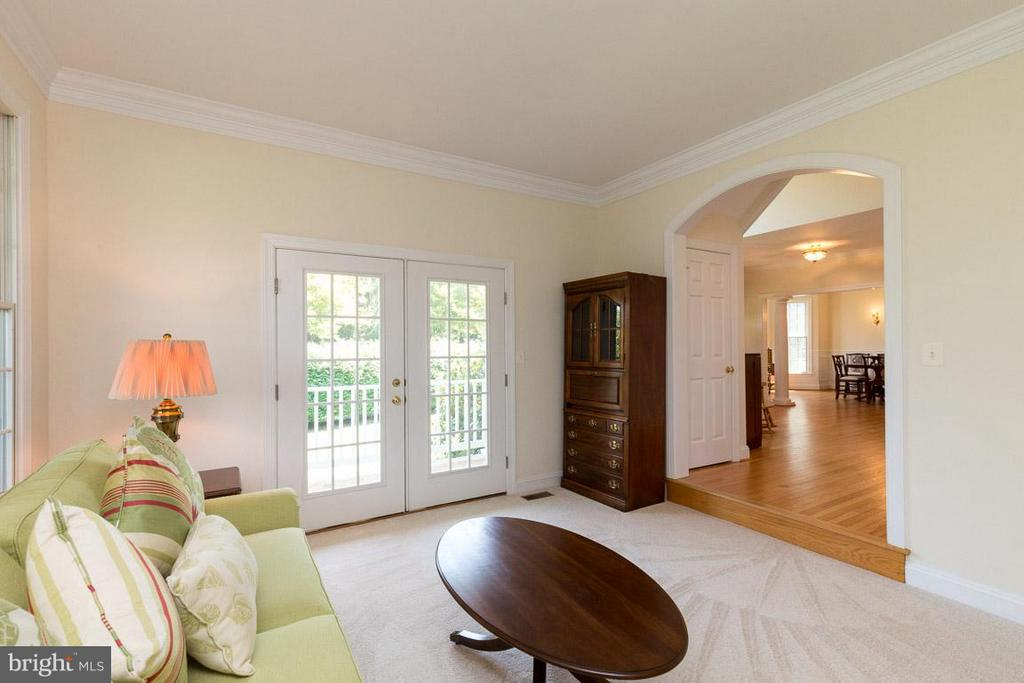 Living Room with French Doors - 42355 GREEN MEADOW LN, LEESBURG