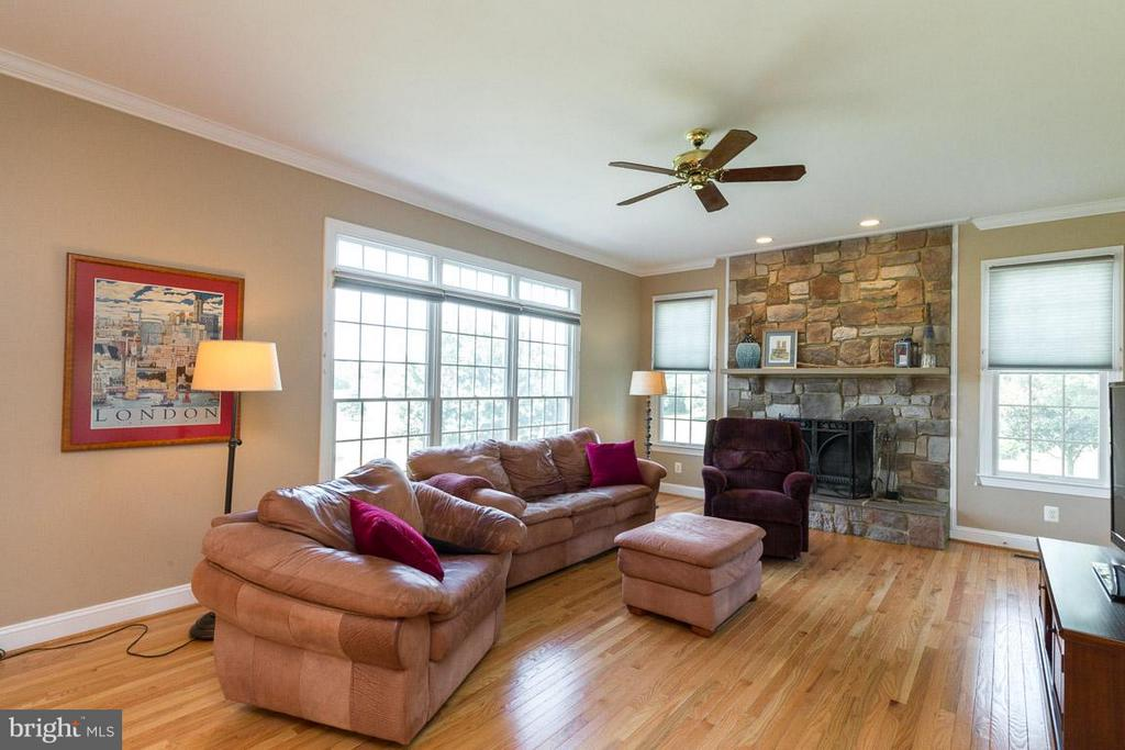 Family Room with wood Burning Fireplace - 42355 GREEN MEADOW LN, LEESBURG