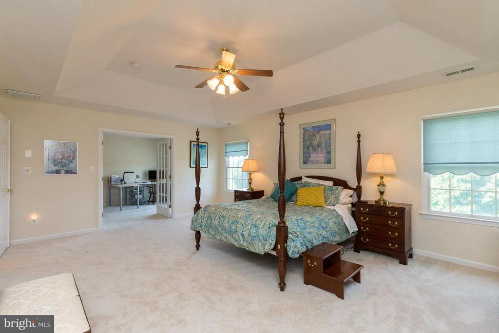 Spacious Master Bedroom Overlooking Sitting Room - 42355 GREEN MEADOW LN, LEESBURG