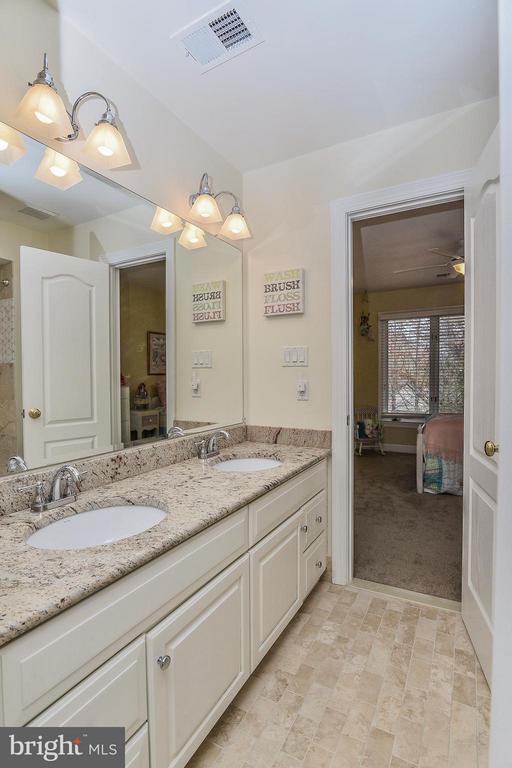 Updated Upper Level Bathroom with Granite Vanity - 1309 STAMFORD WAY, RESTON