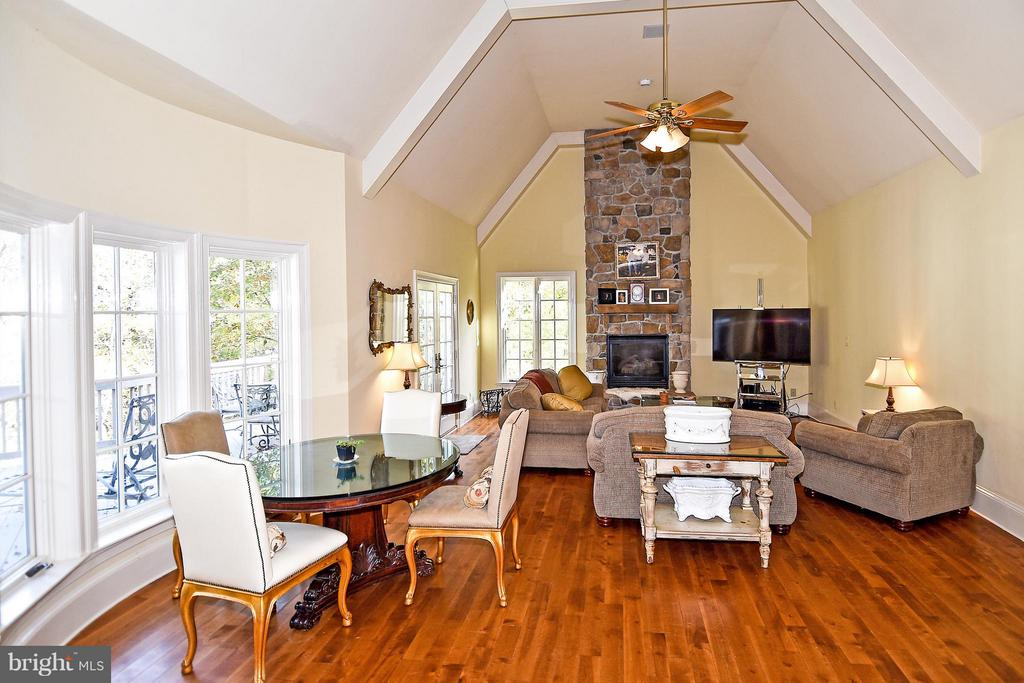 Family Room with Gas Fireplace - 23590 SALLY MILL RD, MIDDLEBURG