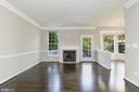 Family Room w/ Hardwood Floors / Crown Molding - 43616 DUNHILL CUP SQ, ASHBURN