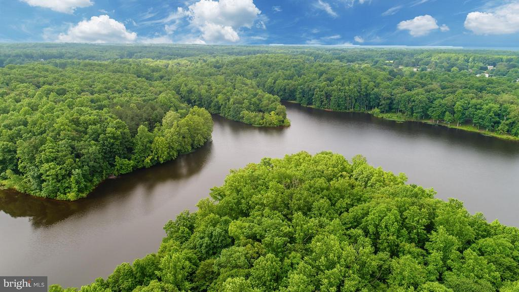 Aerial View of Ni River Reservoir - 10610 WHISPERING WAY, FREDERICKSBURG