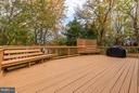 Oversized deck - 9007 LINDA MARIA CT, FAIRFAX