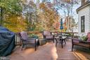 Spacious wood deck offers peaceful wooded views - 2430 SOMERSET DR, JEFFERSONTON