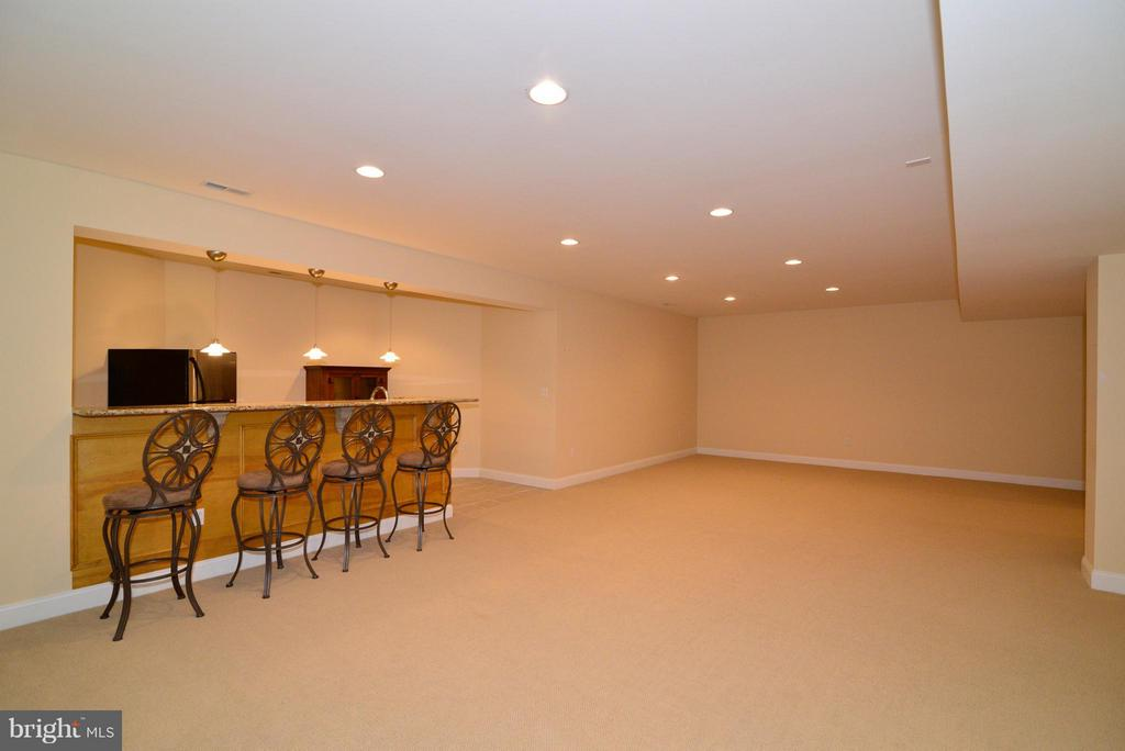 Fully finished basement w/wet bar - 41707 PUTTERS GREEN CT, LEESBURG