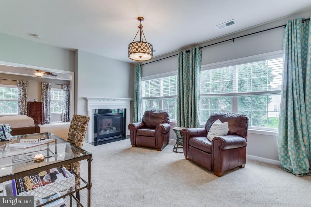 Sitting Room off the Master with Gas Fireplace - 41848 RAWNSLEY DR, ASHBURN