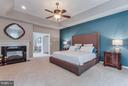 Master Suite with 2 Sided Gas Fireplace - 41848 RAWNSLEY DR, ASHBURN