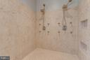 Master Shower with Dual Shower Heads and Jets - 41848 RAWNSLEY DR, ASHBURN